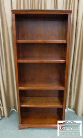 1525-128 - Open Bookcase in Cherry Finish