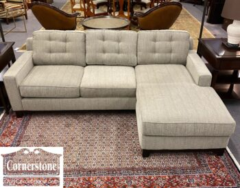 2-1 - Jonathan Lewis Inc Contem Gray Sectl Chaise