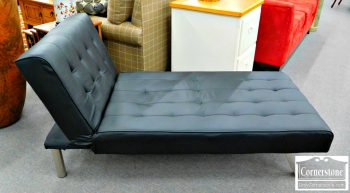 2-1 Vinyl Chaise Lounge - as is (missing bottom webbing)