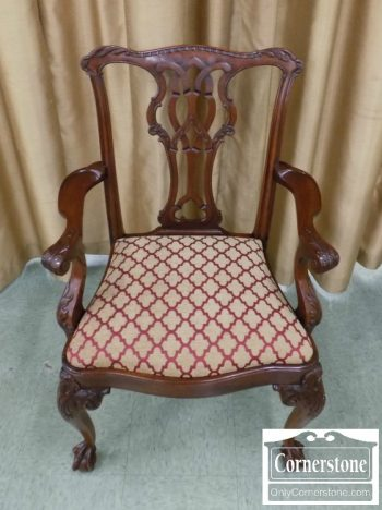 2520-50 - Mahogany Chippendale Arm Chair