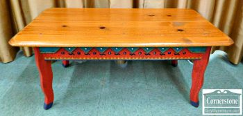 3388-81 Ton Ton Pine Casual Painted Coffee Table