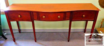 3747-186 Wright Table Co Mahogany Hepplewhite Serpentine Sideboard