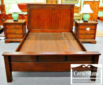 3747-193 Cherry Queen Panel Bed