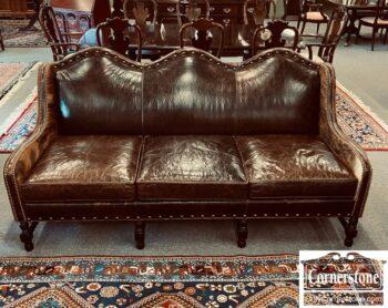 3747-360 - Wesley Hall Leather Hide Sofa