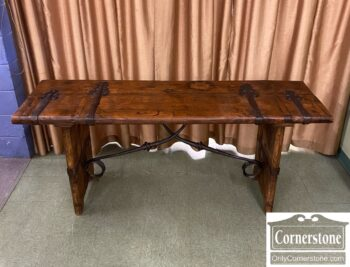 3747-361 - Rustic Console with Metal Trim