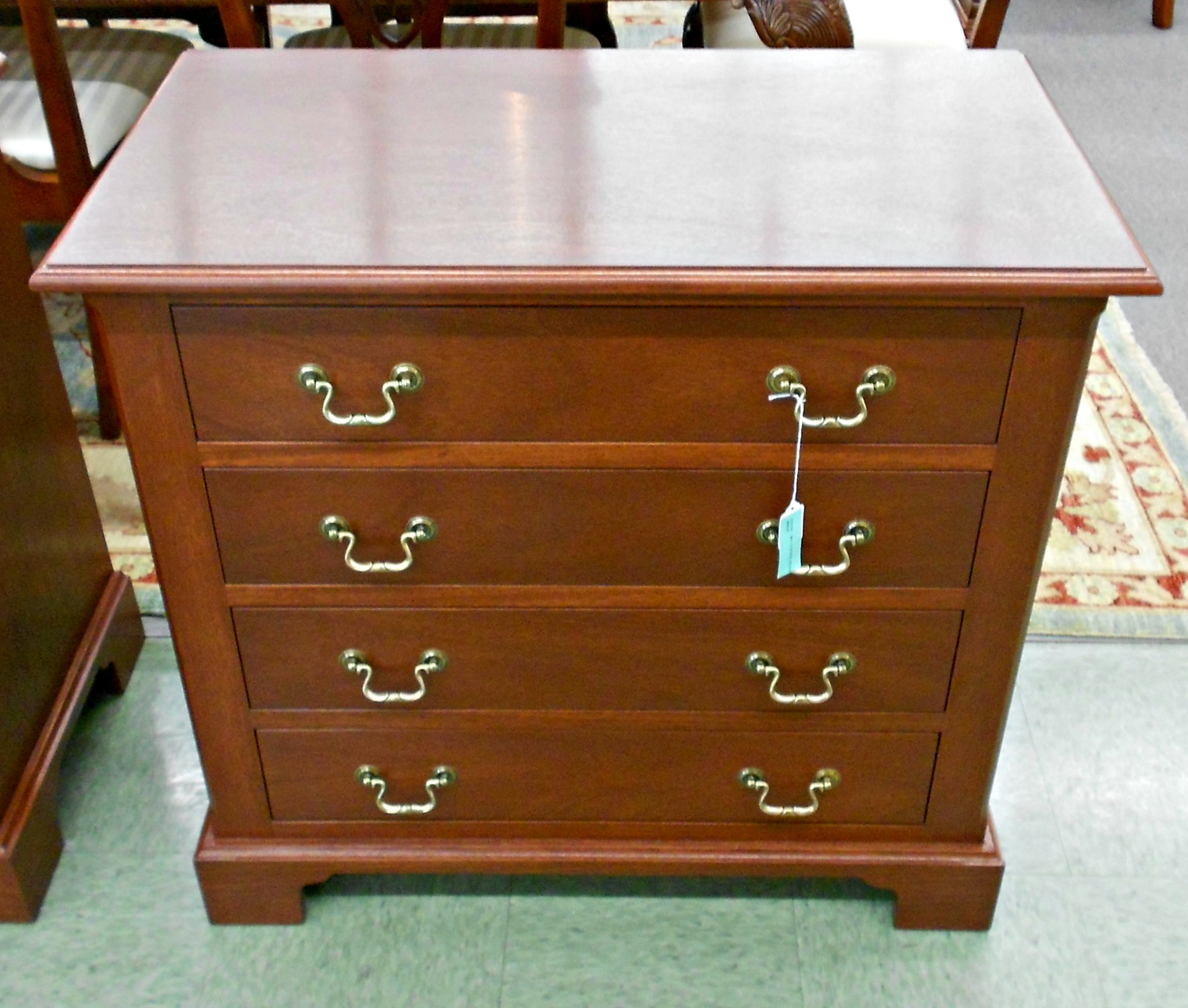 3830-302 Custom Made Mahogany 4 Drawer Bedside Chest