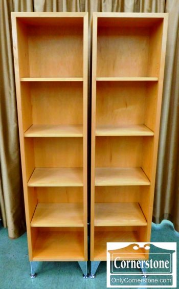 3830-54 Pair of Cabinet Made Modern Bookcases