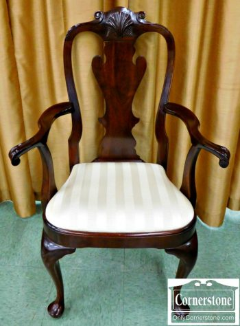 3959-1047 Z Stickley Solid Mahogany Queen Anne Dining Chairs
