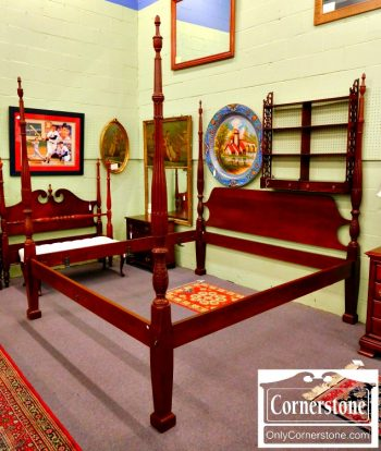 3959-1049 Cabinet Made Solid Mahogany King Poster Bed