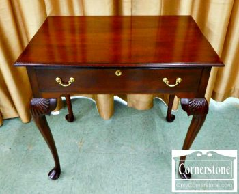 3959-1079 1 Drawer Mahogany Lowboy