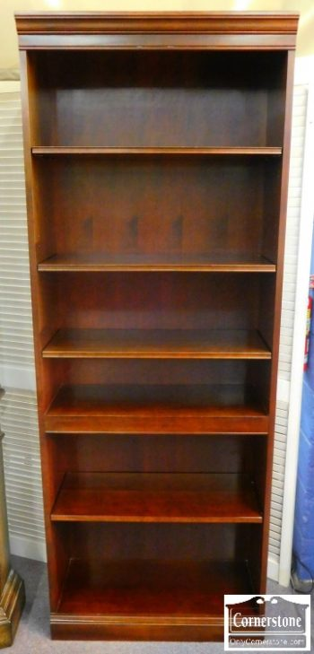 3959-1107 Stickley Solid Cherry Tall Open Bookcase