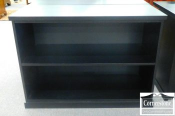 3959-1162 Pottery Barn Low Black Bookcase