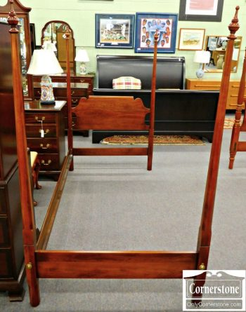 3959-1189 Statton Solid Cherry Twin Pencil Post Bed