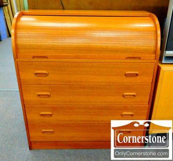 3959-1216 Teak Rolltop Desk