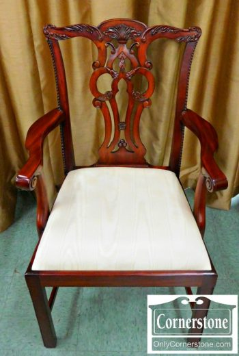 3959-1236 Maitland Smith Solid Mahogany Chippendale Dining Chairs