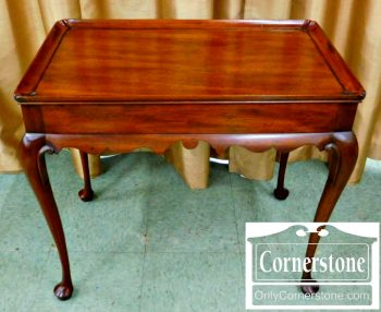 3959-1239 Henkel Harris Solid Mahogany Queen Anne Tea Table