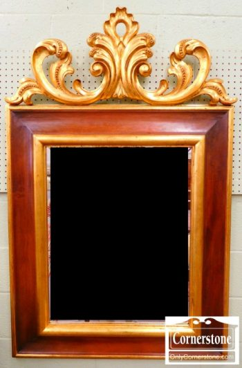 3959-1442 Large Hand-Carved and Gilt Mahogany Mirror by Harrison & Gil