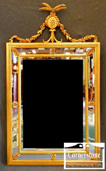 3959-1466 Gold Mirror Made In Italy 32x56