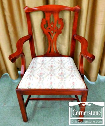 3959-1643 Set of 6 Henkel Harris Cherry Chippendale Chairs