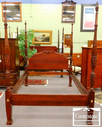 3959-1662 Link Taylor Solid Mahogany Queen Rice Bed