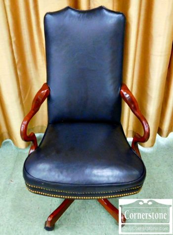 3959-1669 Black Leather Desk Chair