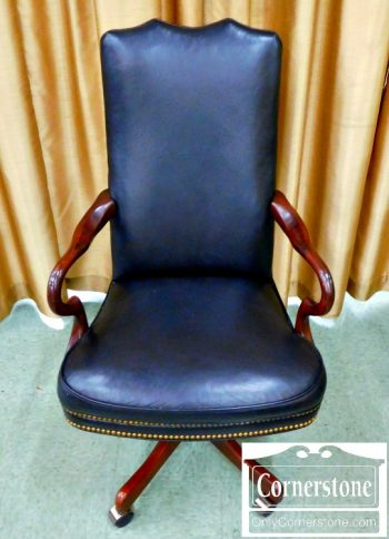 3959-1670 Black Leather Desk Chair