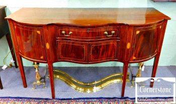 3959-1698 Cabinet Made Mahogany Inlaid Sideboard