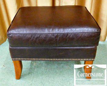 3959-1701 Fairfield Brown Leather Ottoman