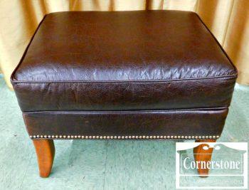 3959-1702 Fairfield Brown Leather Ottoman