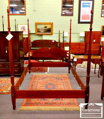 3959-1709 - Biggs Mahogany Queen Poster Bed