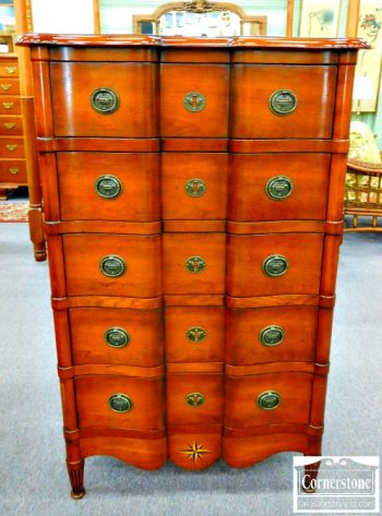 3959-1724 - Cherry Chest with Inlaid Star