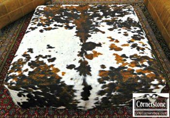 3959-1747 Square Cowhide Ottoman