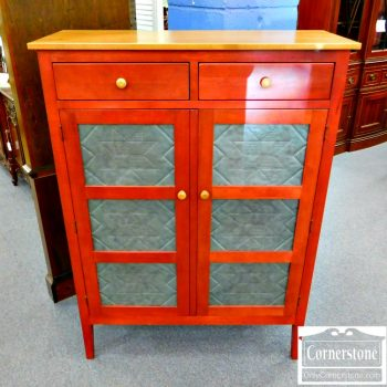 3959-1755 - Ethan Allen Red-Stained Pie Safe