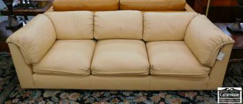 3959-1756 - Hancock & Moore Leather Sofa - Buttercream