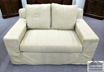 3959-1763 - Crate & Barrel Casual Loveseat - Slipcover Look