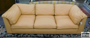 3959-1767 - Hancock & Moore Buttercream Leather Sofa