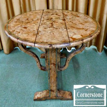 3959-1772 - Rustic Crackle Finish Dropleaf Table