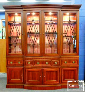 3959-1783 - Cabinet Made Mahogany Breakfront