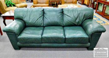 3959-1792 - Elite Casual Green Leather Sofa