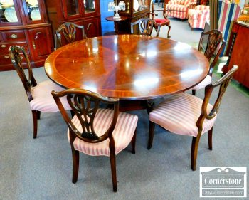 3959-1808 - Set of 6 Mahogany Hepplewhite Shieldbacks Side Chairs