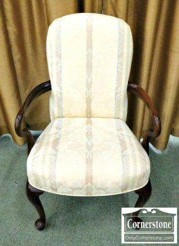 3959-1814 - Ethan Allen Cherry Queen Anne Occasional Arm Chair