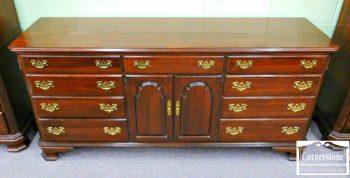 3959-1818 - Ethan Allen Solid Cherry Chippendale Georgian Court Dresser