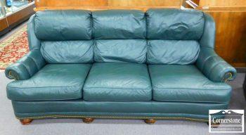 3959-1840 - Executive Leather Casual Green Leather Sofa