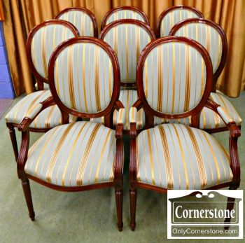 3959-1855 Set of 8 Oval Stickley Dining room Chairs