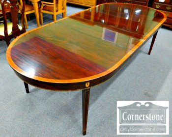 3959-1856 Stickley Oval Inlaid Dining Room Table