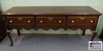 3959-1861 - Henkel Harris Mahogany Queen Anne Sideboard