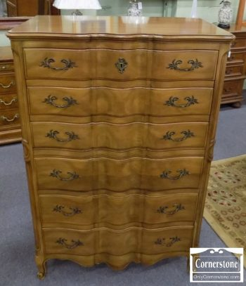 3959-1955 - John Widdicomb Cherry French Provincial Tall Chest