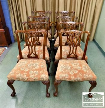 3959-1967 - Set of 8 Baker Mahogany Chippendale Dining Chairs