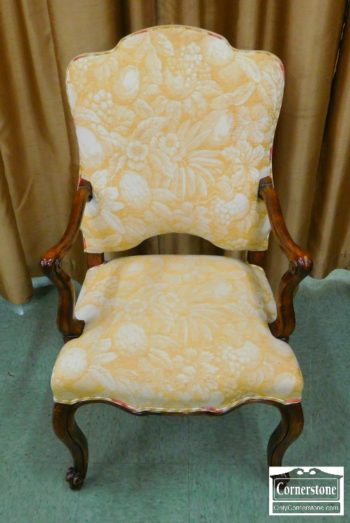 3959-1973 - Minton Spidell French Style Gold Upholstered Arm Chair