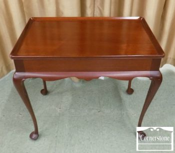 3959-1976 - Solid Mahogany Queen Anne Tea Table
